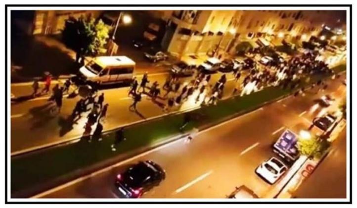 Capture d'écran de l'une des vidéos de la marche de Tanger