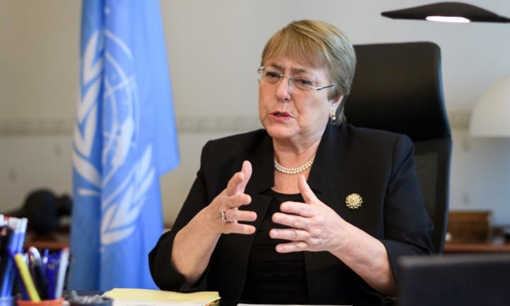 Michelle Bachelet,  Haut-Commissaire des Nations Unies aux droits de l'homme