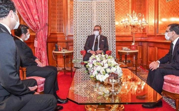 Othman El Ferdaouss et Saïd Amzazi reçus au Palais Royal de Casablanca par SM Le Roi Mohammed VI, en présence du chef de gouvernement