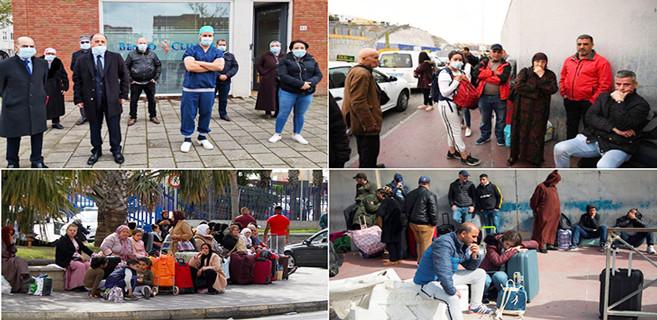 Marocains coincés à l'étranger après la fermeture des frontières à cause du Covid-19.