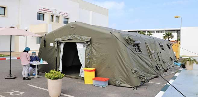 L'Hôpital militaire d'Instruction Mohammed V mobilisé au service des citoyens dans la lutte contre la propagation du Covid-19. Ph. MAP