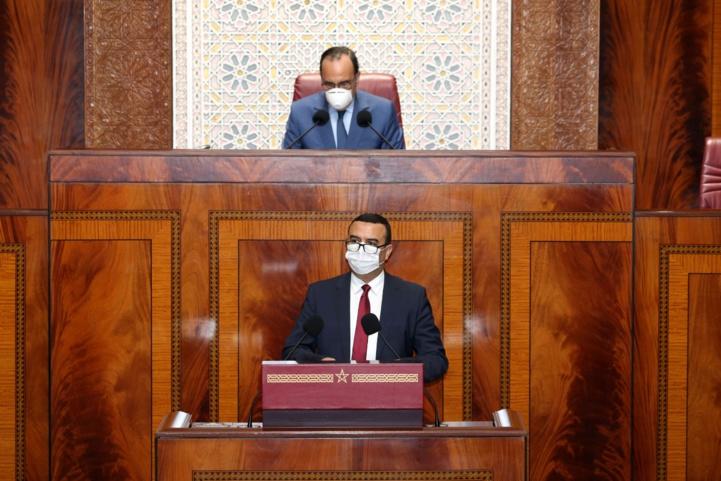 Mohamed Amekraz lors de la séance plénière consacrée à l'examen et au vote du projet de loi N°25.20 à la Chambre des représentants