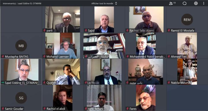 Les leaders des partis politiques représentés au Parlement en mode en mode vidéo-conférence
