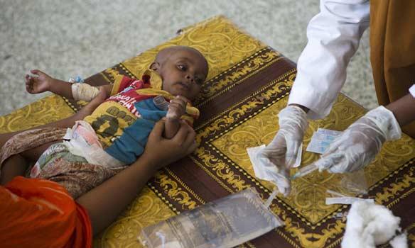 Jusqu'à 1,2 million d'enfants de moins de cinq ans dans 118 pays pourraient mourir en six mois