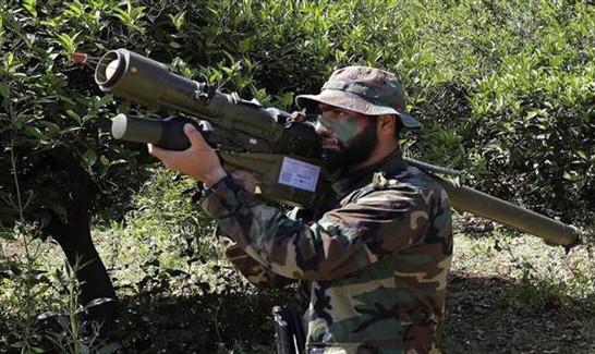 Un combattant du Hezbollah, sur les frontières avec la Palestine occupée.