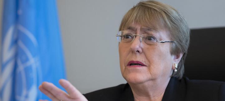 Michelle Bachelet, Haute-Commissaire des Nations Unies aux droits de l'homme.