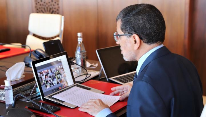 Réunion par visioconférence du Conseil de gouvernement sous la présidence du Chef du gouvernement, Saâd Dine El Othmani.