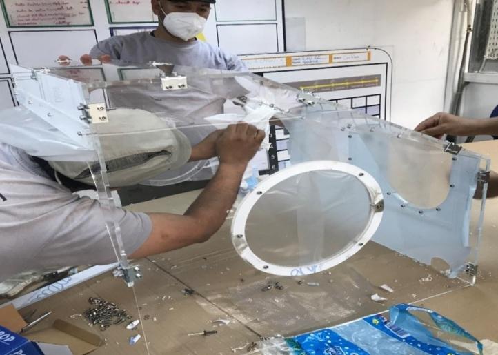 Les ingénieurs de l'EMI élaborent un caisson pour les médecins marocains