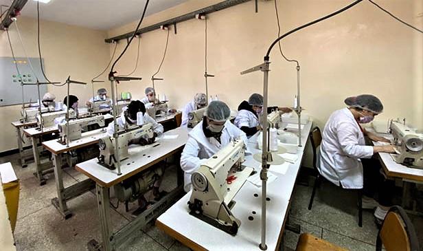 PNUD : Soutien financier pour la fabrication de masques dans des prisons marocaines