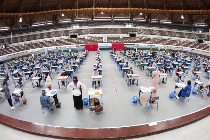 """Un examen en mode """"covid-19"""" dans des salles de sport (Ph. KAMAL)."""