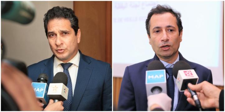 Ahmed Afilal El Alami Idrissi, président de l'UGEP et Mohamed Benchaâboun, ministre de l'Économie, des Finances.