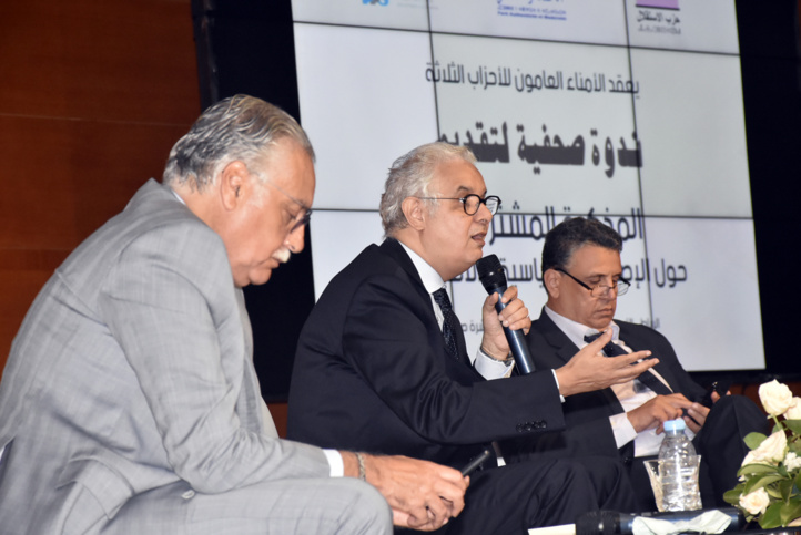 L'Istiqlal, le PAM et le PPS présentent leur mémorandum