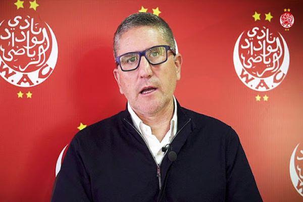 Garidou n'est plus le coach du Wydad !