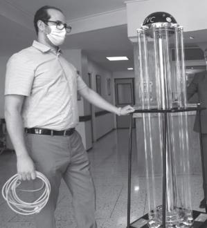 Un Marocain produit une machine de désinfection à ultraviolets