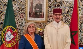 Décoration Royale à l'ancienne ambassadrice du Portugal au Maroc