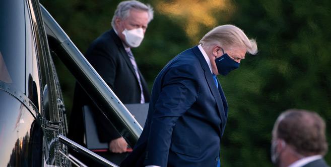 Etats-Unis : Contaminations en série dans l'entourage de Trump hospitalisé
