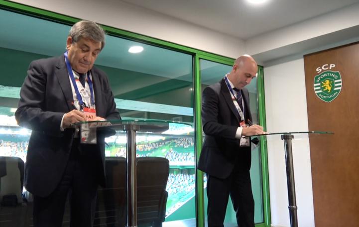 Les deux présidents des fédérations de football du Portugal et d'Espagne.