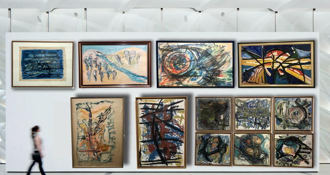 Rétrospective de l'artiste Jilali Gherbaoui : « l'envol de racines »