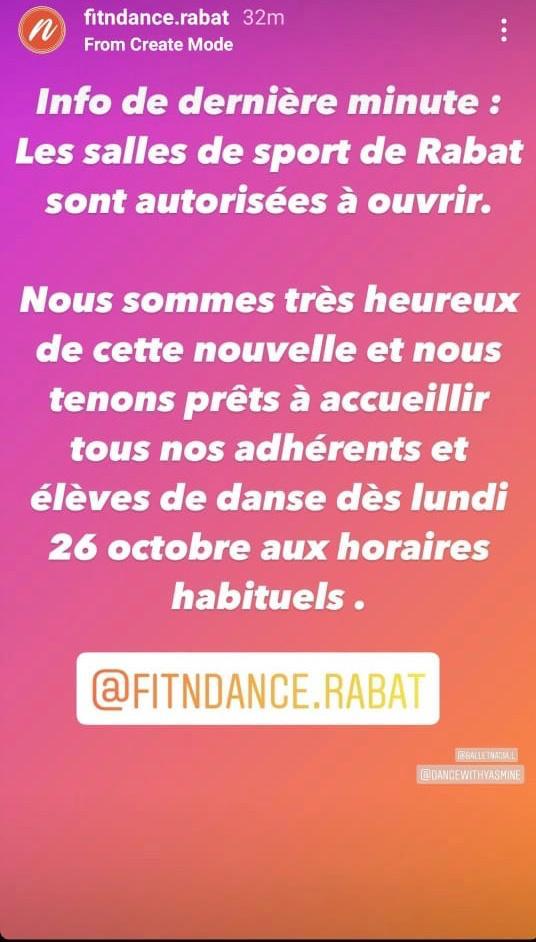 Coup de théâtre : les salles de sport à Rabat autorisées à rouvrir