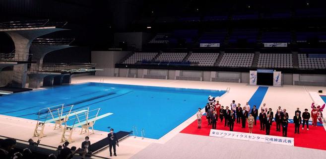 JO-2020 : Un centre aquatique de 15.000 places inauguré à Tokyo
