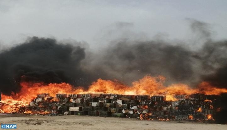 Dakhla : Plus de 2 tonnes de chira incinérées