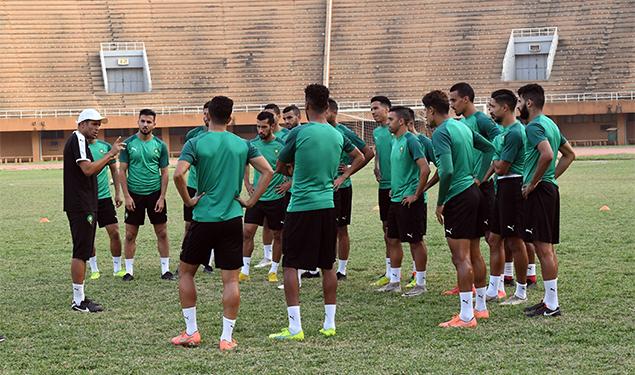 Football/ La sélection nationale des locaux en stage de préparation à Maâmora