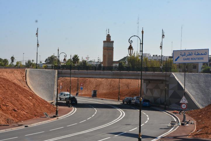 Ouverture du passage souterrain à l'entrée sud de Rabat