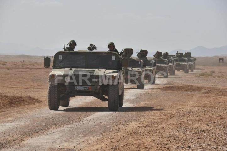 Les FAR ripostent à des tirs de harcèlement effectués par les miliciens du polisario le long de la ligne de défense.