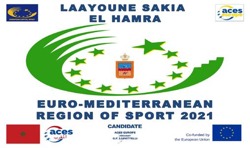 """Provinces du Sahara Marocain : La Région de Laâyoune-Sakia El Hamra reçoit le Prix de """"La Région euro-méditerranéenne de sport 2021"""""""