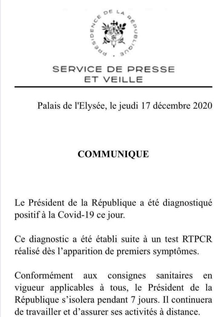 Emmanuel Macron diagnostiqué positif au Covid