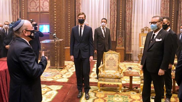 SM le Roi Mohammed VI, recevant Meir Ben-Shabbat, conseiller à la sécurité nationale d'Israël.