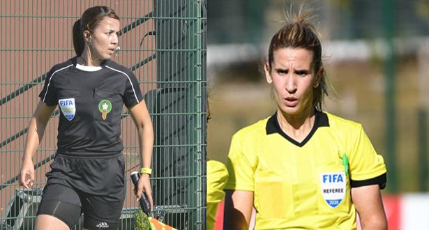 CAN U20 / UNAF (Q) / Tunisie :   Karkoubi et Jermoumi parmi les 5 arbitres femmes du tournoi qualificatif