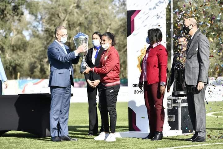 Football Féminin : Les footballeuses de l'AS FAR couronnées après leur titre du Championnat national 2019/2020