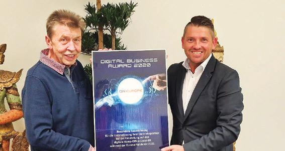 Digital Business Award 2020 décerné à QNET