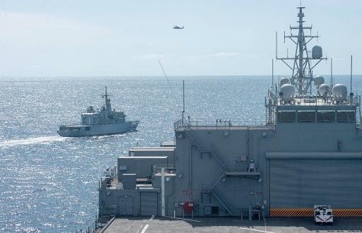 Exercice naval conjoint entre la Marine Royale et l'US Navy