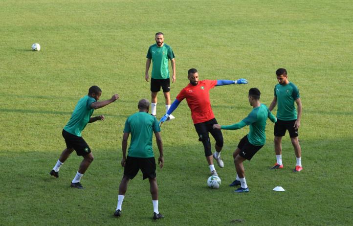 Dernière séance d'entrainement avant le match du Togo.