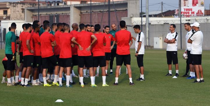 Une séance d'entrainement ce samedi avant la rencontre de dimanche.