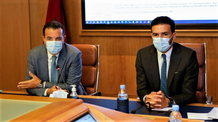 Chakib ALJ et Mehdi TAZI respectivement Président et Vice-Président de la CGEM.