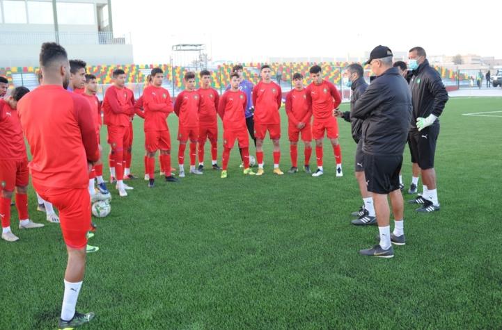 Une séance d'entrainement de l'équipe nationale marocaine U20.