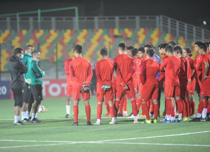 Dernière séance d'entrainement, sous la direction de Zakaria Abboub, avant la première rencontre.