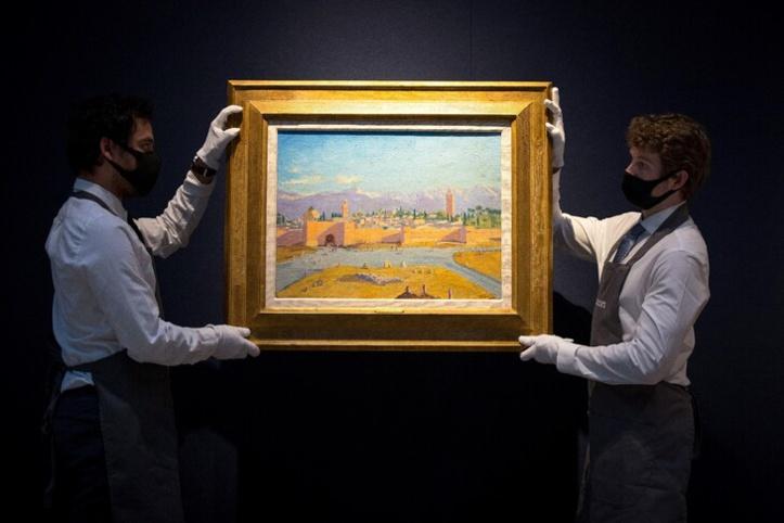 La toile de Churchill représentant la mosquée Koutoubia vendue à plus de 8 millions d'euros