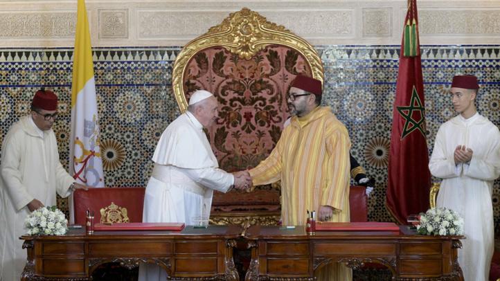 Félicitations Royales au Pape François à l'occasion du 8è anniversaire de son pontificat