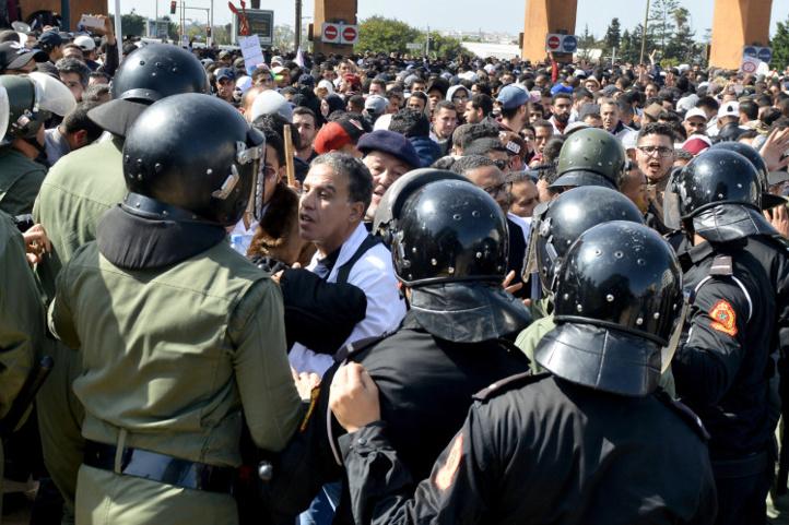 Après Rabat, les enseignants contractuels manifestent à Casablanca