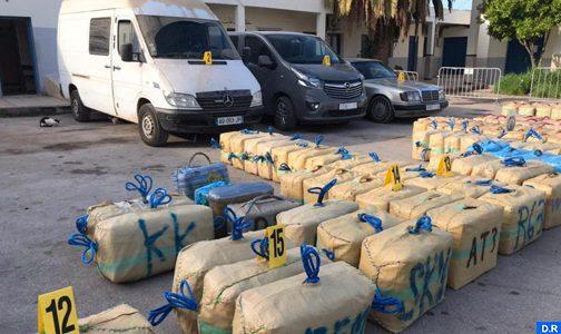 Nador: tentative de trafic international de drogue avortée, 4,779 tonnes de chira saisies