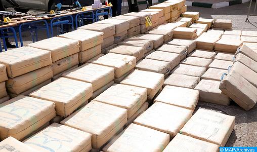 Mise en échec d'une tentative de trafic de plus 600kg de drogues à Agadir