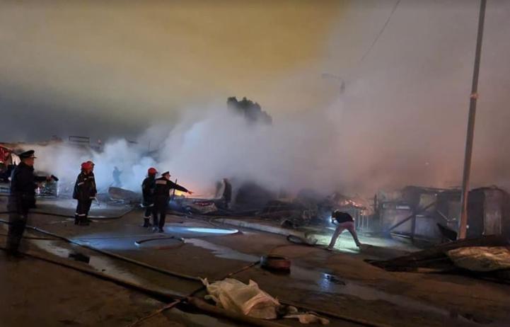 Inzegan : un incendie ravage dix magasins dans deux souk