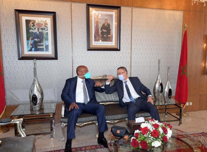 Le président de la Confédération Africaine de Football hôte du Maroc