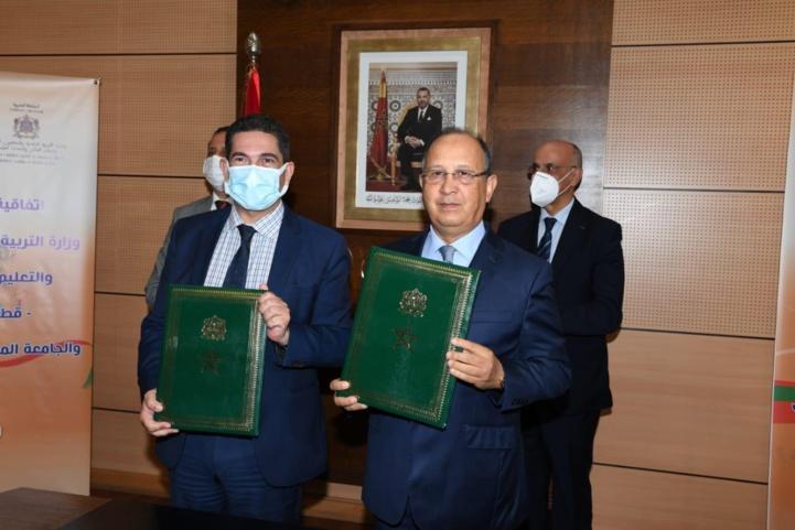Ministère de l'Education nationale et Fédération de l'Athlétisme:  Signature d'une convention-cadre de partenariat pour la promotion du sport scolaire