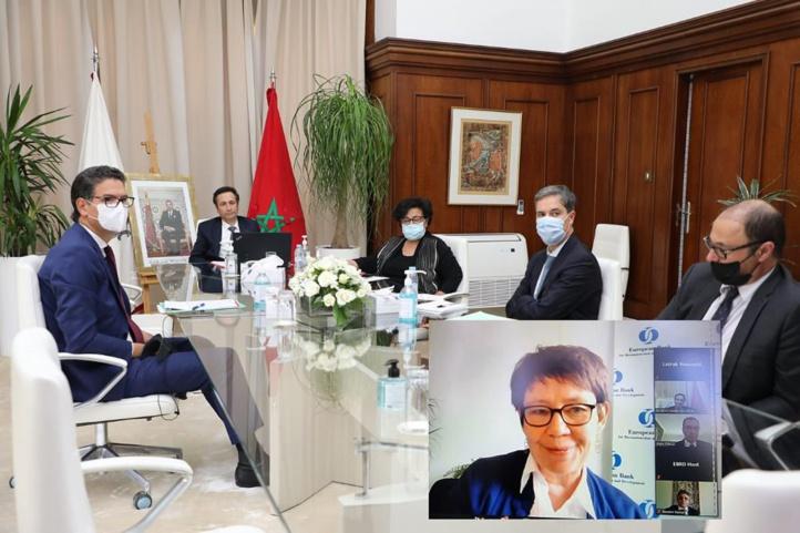 Bourita et Benchaaboun s'entretiennent  avec la présidente de la BRED