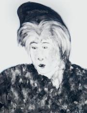 Hossein Tallal. Portrait, technique mixte sur toile, 100x80 cm, 2012/2011.